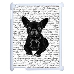 Cute Bulldog Apple Ipad 2 Case (white) by Valentinaart