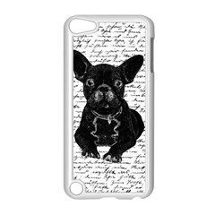 Cute Bulldog Apple Ipod Touch 5 Case (white) by Valentinaart