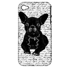 Cute Bulldog Apple Iphone 4/4s Hardshell Case (pc+silicone) by Valentinaart