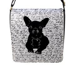 Cute Bulldog Flap Messenger Bag (l)  by Valentinaart