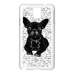 Cute Bulldog Samsung Galaxy Note 3 N9005 Case (white) by Valentinaart