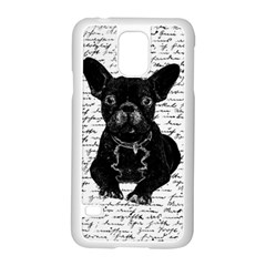 Cute Bulldog Samsung Galaxy S5 Case (white) by Valentinaart