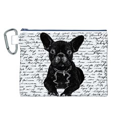 Cute Bulldog Canvas Cosmetic Bag (l) by Valentinaart