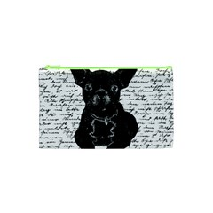 Cute Bulldog Cosmetic Bag (xs) by Valentinaart