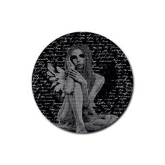 Angel Rubber Coaster (round)  by Valentinaart