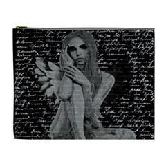 Angel Cosmetic Bag (xl) by Valentinaart