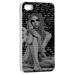 Angel Apple Iphone 4/4s Seamless Case (white) by Valentinaart