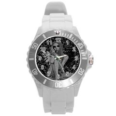 Angel Round Plastic Sport Watch (l) by Valentinaart