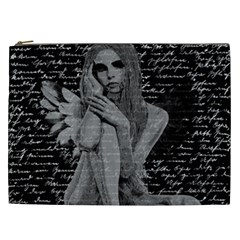 Angel Cosmetic Bag (xxl)  by Valentinaart