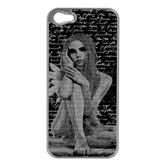 Angel Apple Iphone 5 Case (silver) by Valentinaart