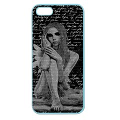 Angel Apple Seamless Iphone 5 Case (color) by Valentinaart