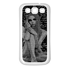 Angel Samsung Galaxy S3 Back Case (white) by Valentinaart