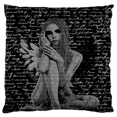 Angel Large Flano Cushion Case (one Side) by Valentinaart