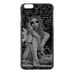 Angel Apple Iphone 6 Plus/6s Plus Black Enamel Case by Valentinaart