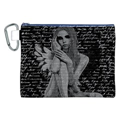 Angel Canvas Cosmetic Bag (xxl) by Valentinaart