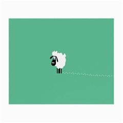 Sheep Trails Curly Minimalism Small Glasses Cloth by Simbadda