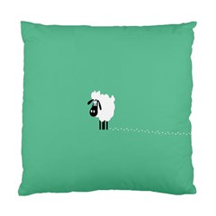 Sheep Trails Curly Minimalism Standard Cushion Case (two Sides) by Simbadda
