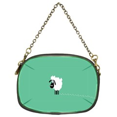 Sheep Trails Curly Minimalism Chain Purses (two Sides)  by Simbadda