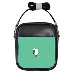 Sheep Trails Curly Minimalism Girls Sling Bags by Simbadda