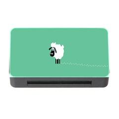 Sheep Trails Curly Minimalism Memory Card Reader With Cf by Simbadda