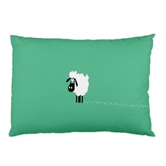 Sheep Trails Curly Minimalism Pillow Case (two Sides) by Simbadda