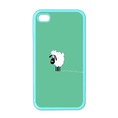 Sheep Trails Curly Minimalism Apple Iphone 4 Case (color) by Simbadda