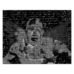 Angel  Rectangular Jigsaw Puzzl by Valentinaart