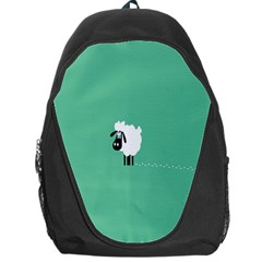 Sheep Trails Curly Minimalism Backpack Bag by Simbadda