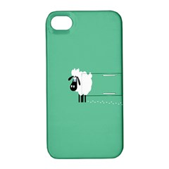 Sheep Trails Curly Minimalism Apple Iphone 4/4s Hardshell Case With Stand by Simbadda