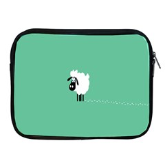 Sheep Trails Curly Minimalism Apple Ipad 2/3/4 Zipper Cases by Simbadda