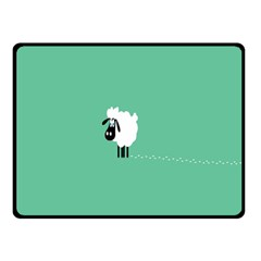Sheep Trails Curly Minimalism Double Sided Fleece Blanket (small)  by Simbadda