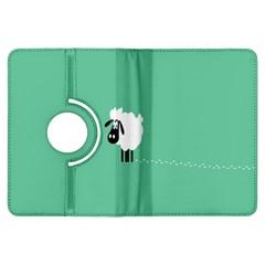Sheep Trails Curly Minimalism Kindle Fire Hdx Flip 360 Case by Simbadda