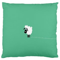 Sheep Trails Curly Minimalism Large Flano Cushion Case (two Sides) by Simbadda