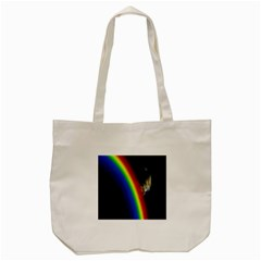 Rainbow Earth Outer Space Fantasy Carmen Image Tote Bag (cream) by Simbadda
