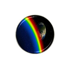 Rainbow Earth Outer Space Fantasy Carmen Image Hat Clip Ball Marker by Simbadda