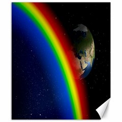 Rainbow Earth Outer Space Fantasy Carmen Image Canvas 8  X 10  by Simbadda