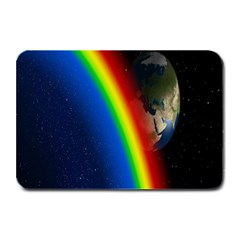 Rainbow Earth Outer Space Fantasy Carmen Image Plate Mats by Simbadda