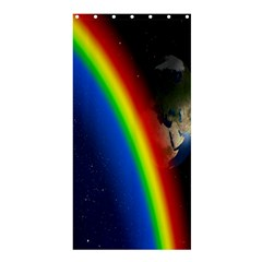 Rainbow Earth Outer Space Fantasy Carmen Image Shower Curtain 36  X 72  (stall)  by Simbadda