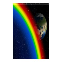 Rainbow Earth Outer Space Fantasy Carmen Image Shower Curtain 48  X 72  (small)  by Simbadda