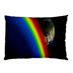 Rainbow Earth Outer Space Fantasy Carmen Image Pillow Case (two Sides) by Simbadda