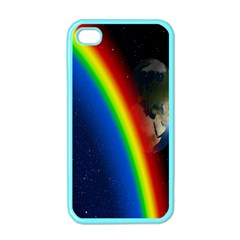 Rainbow Earth Outer Space Fantasy Carmen Image Apple Iphone 4 Case (color) by Simbadda