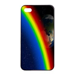 Rainbow Earth Outer Space Fantasy Carmen Image Apple Iphone 4/4s Seamless Case (black) by Simbadda