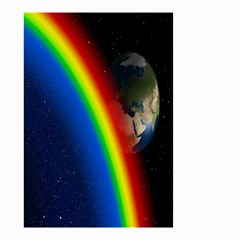 Rainbow Earth Outer Space Fantasy Carmen Image Small Garden Flag (two Sides) by Simbadda