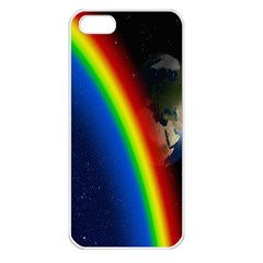 Rainbow Earth Outer Space Fantasy Carmen Image Apple Iphone 5 Seamless Case (white) by Simbadda
