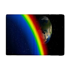 Rainbow Earth Outer Space Fantasy Carmen Image Apple iPad Mini Flip Case by Simbadda