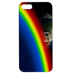 Rainbow Earth Outer Space Fantasy Carmen Image Apple Iphone 5 Hardshell Case With Stand by Simbadda