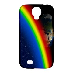 Rainbow Earth Outer Space Fantasy Carmen Image Samsung Galaxy S4 Classic Hardshell Case (pc+silicone) by Simbadda