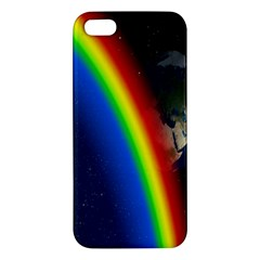 Rainbow Earth Outer Space Fantasy Carmen Image Iphone 5s/ Se Premium Hardshell Case by Simbadda