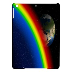 Rainbow Earth Outer Space Fantasy Carmen Image Ipad Air Hardshell Cases by Simbadda