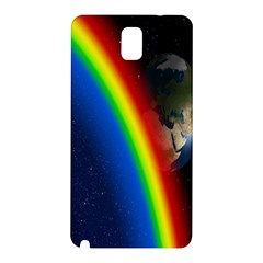 Rainbow Earth Outer Space Fantasy Carmen Image Samsung Galaxy Note 3 N9005 Hardshell Back Case by Simbadda